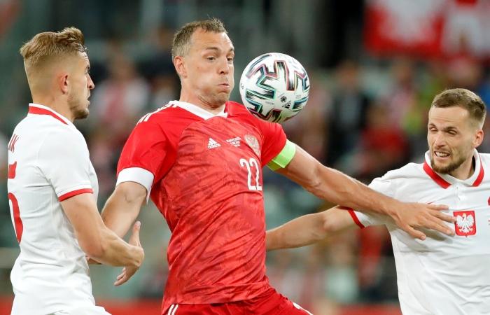 Сборная России по футболу сыграла вничью с Польшей