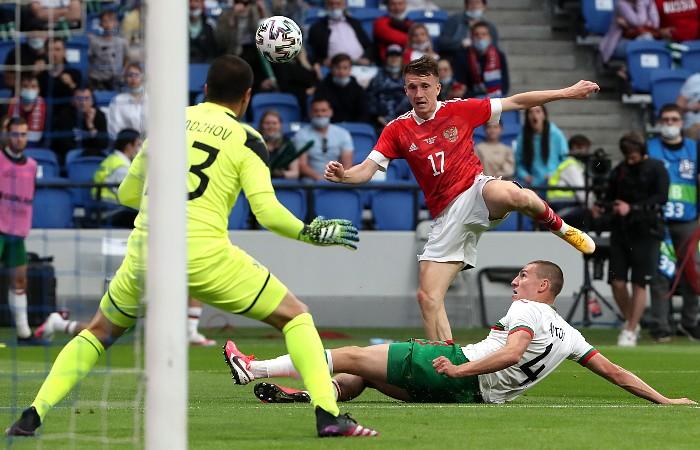 Сборная России по футболу победила Болгарию в товарищеском матче