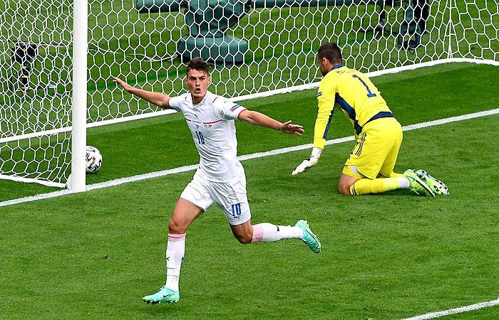 Гол с центра поля помог сборной Чехии победить Шотландию