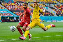 Сборная Украины победила Северную Македонию