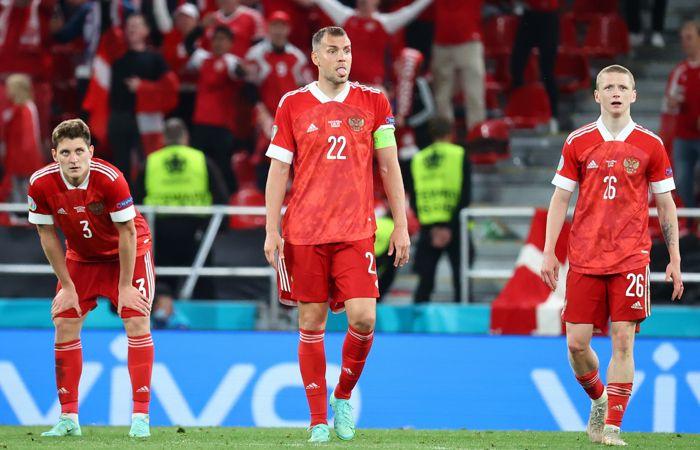 Россия проиграла Дании и выбыла из Евро-2020