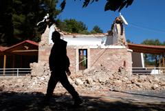 На Крите после землетрясения нашли погибшего