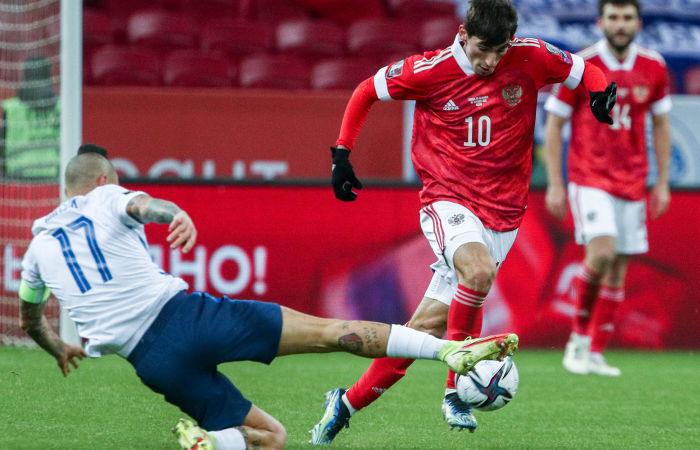 Сборная России победила Словакию в отборочном матче ЧМ-2022