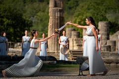 Огонь зимней Олимпиады в Пекине зажжен в Древней Олимпии